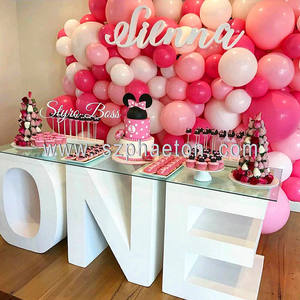1 year old baby shower cake table letter and number table for birthday party decorations / supplies