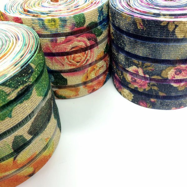 Wide-belt ribbon printing elastic strip fishwire elastic belt printing manufacturers direct a large amount of spot