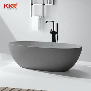 KKR Customize Size Repairable CUPC Bath Tub Adult Luxury Soaking Solid Surface Freestanding Bathtubs
