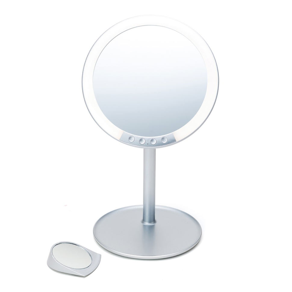 Wholesale high transparency plastic frame material table led round mirror