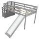 Free shipping modern bunk bed designs with storagekids loft bunk bed with slide prices