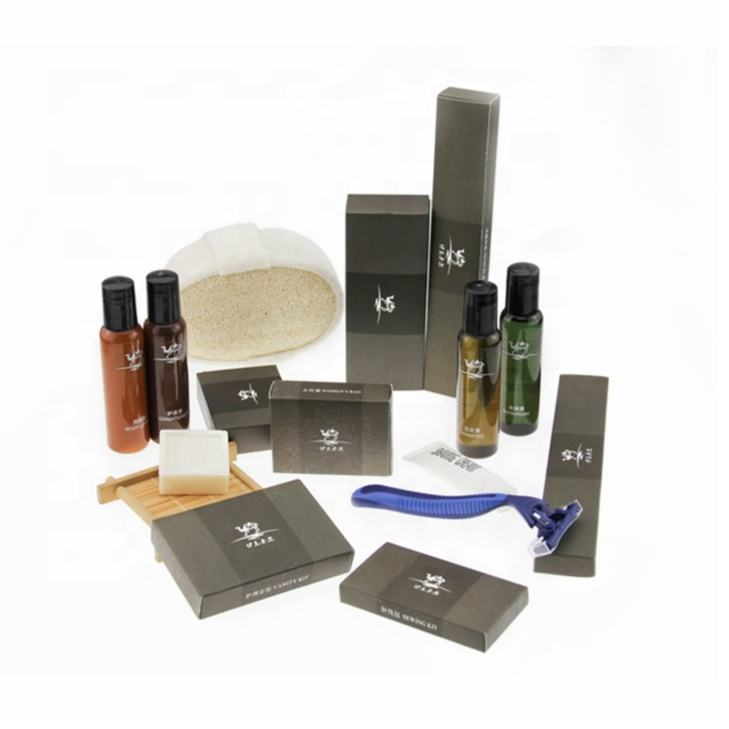 Customized wholesale hotel supplies and hotel amenities biodegradable amenity set