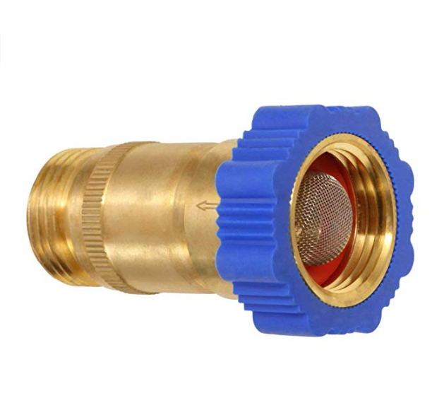"Lead Free Brass Inline Water Pressure Regulator 3/4"" Connector"