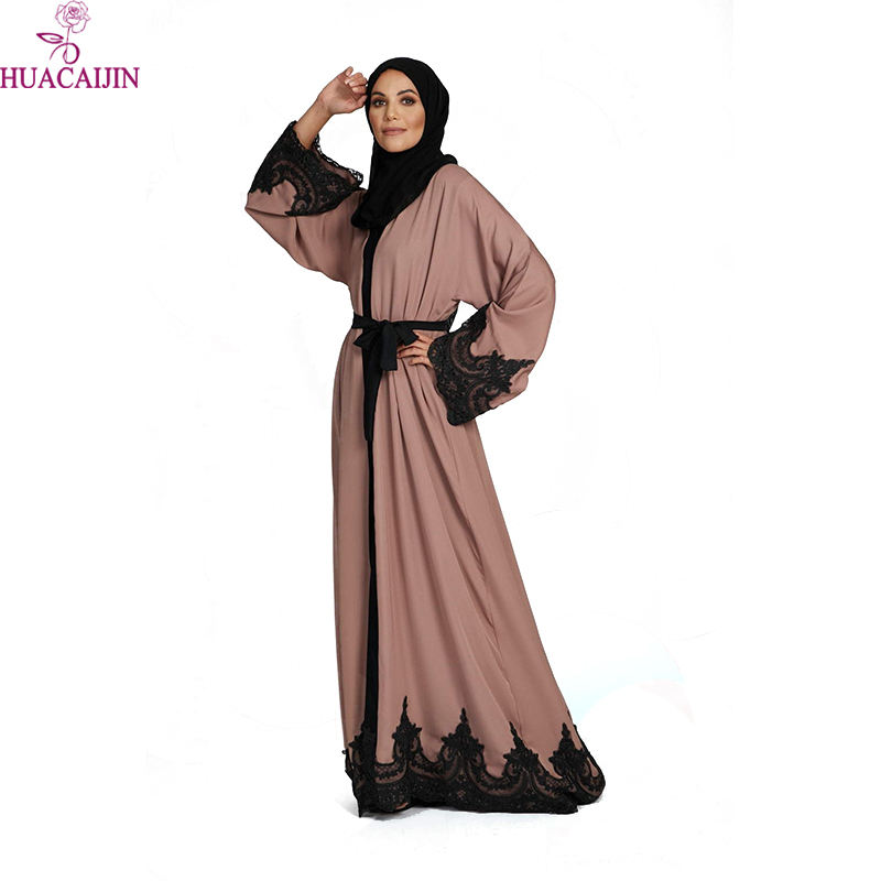 Abayas Muslim Dress Dubai Luxury Black Caftan Islamic Party Butterfly Elegant Jubah Ladies Satin Size Abaya With Lace In India