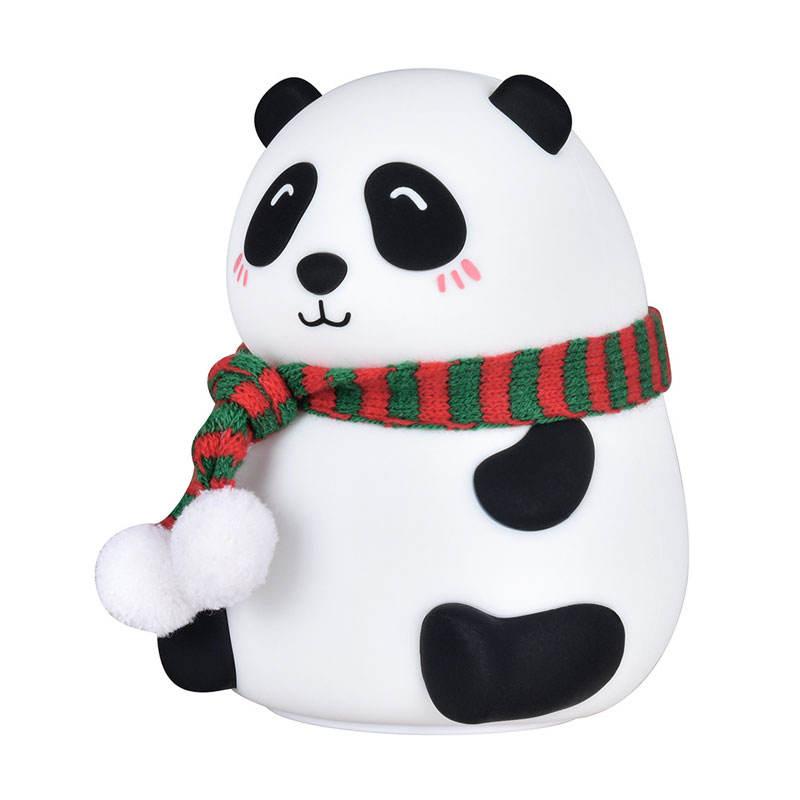 Newly Designed Cute panda Baby LED Lamp Eye protection Soft light silicone baby night light