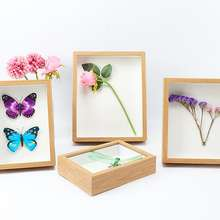 Wholesale vintage diy plant specimen creative glass wooden frames photo