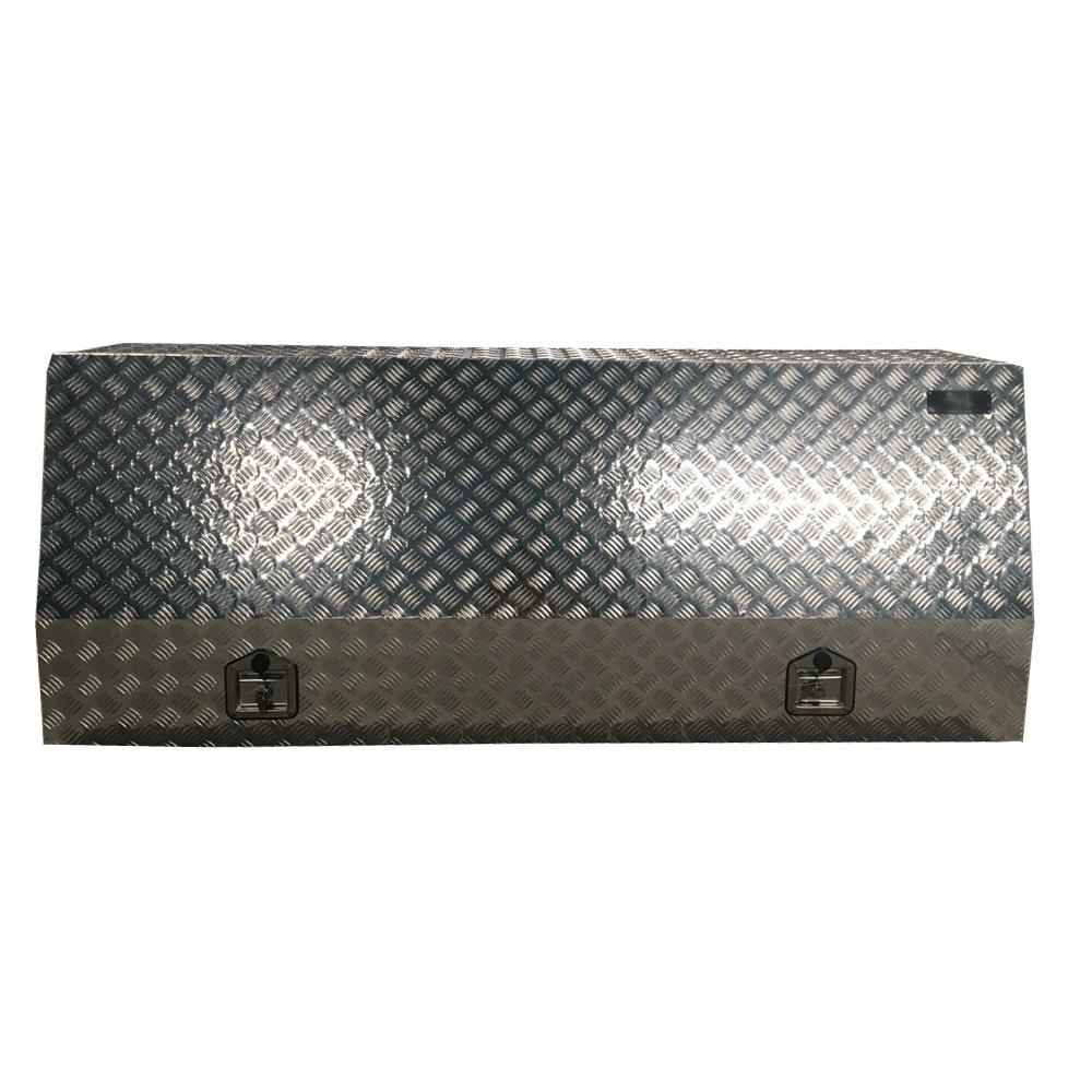 Aluminum full recessed door open truck tool box
