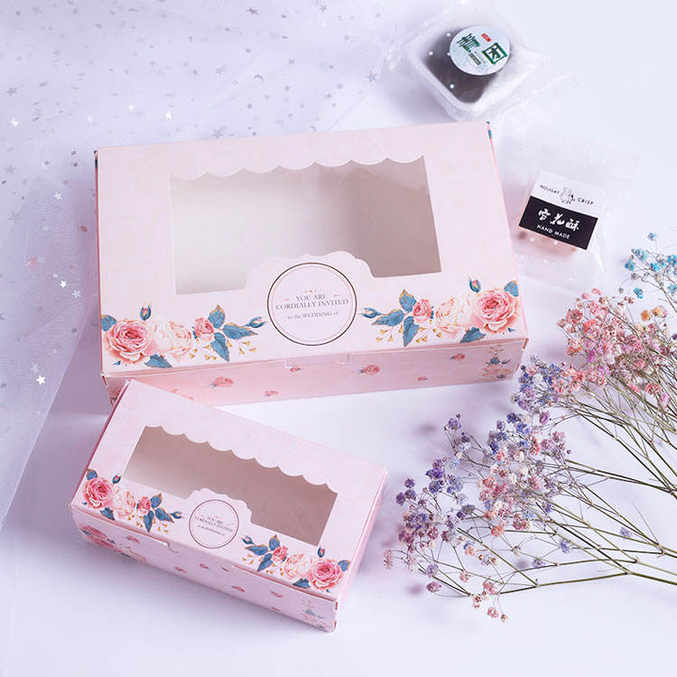 Spring Style Baking Cranberry Cupcake Cookies Box Packaging For Chocolate Cake Muffin Biscuits