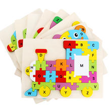 Children's wooden toys letters buildings puzzles funny numbers puzzle games early education toys