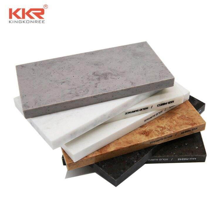 KKR Customized Building Material Solid Surface Sheet Artificial Acrylic Stone