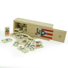 Mini Wholesale Double Six Professional Ivory Dominoes Custom Puerto Rico New Design Kinds Domino Game Set In Wooden Box