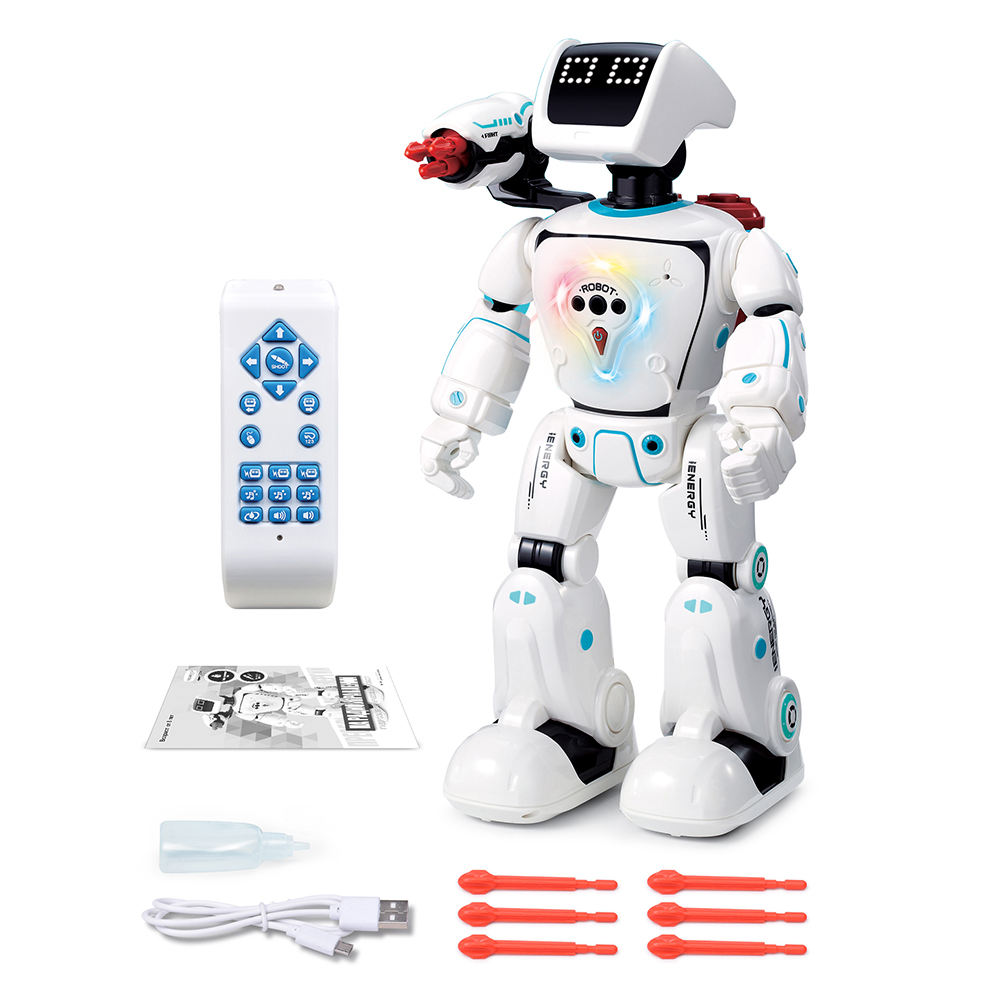 Huiye Amazon Missle Launch Fighting Robot Russian IC New Intelligent Programmable Rc Battery Operation Smart Toy Robot Juguetes