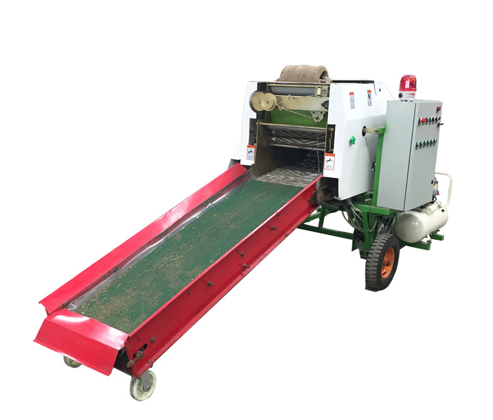 Diesel engine mini grass hay corn silage baler machine , silage baler and wrapper machine