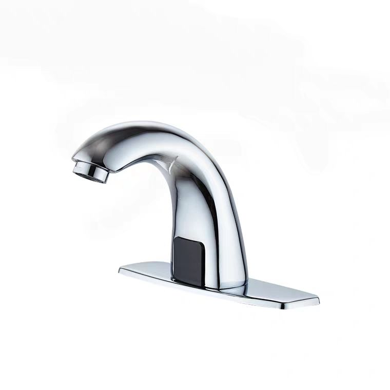 Hot Sale No Touch Factory Price Bathroom Public Chrome Finish Short Brass Body Automatic Sensor Water Tap