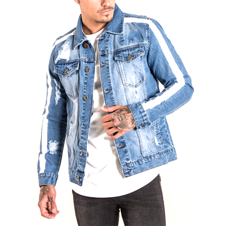 Denim jacket manufacturer OEM custom mens jean denim jacket