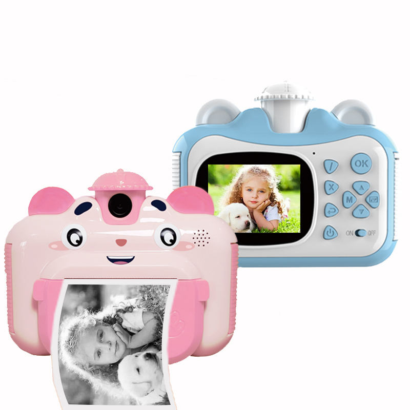 Children Instant Print Camera For Baby Kids 1080p HD Small Mini Camera With Thermal Photo Paper Toys Digital Camera Gifts toys B