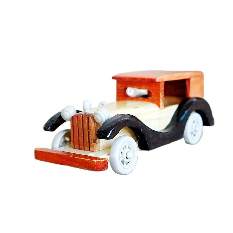 Manufacture Directly Sale Wooden Crafts Wood Classic Car Model Vintage Model Car for Home Decoration