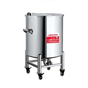 LIENM Movable Stainless Steel Storage Tank 300L/400L/600L For Water Lition Cream Storage