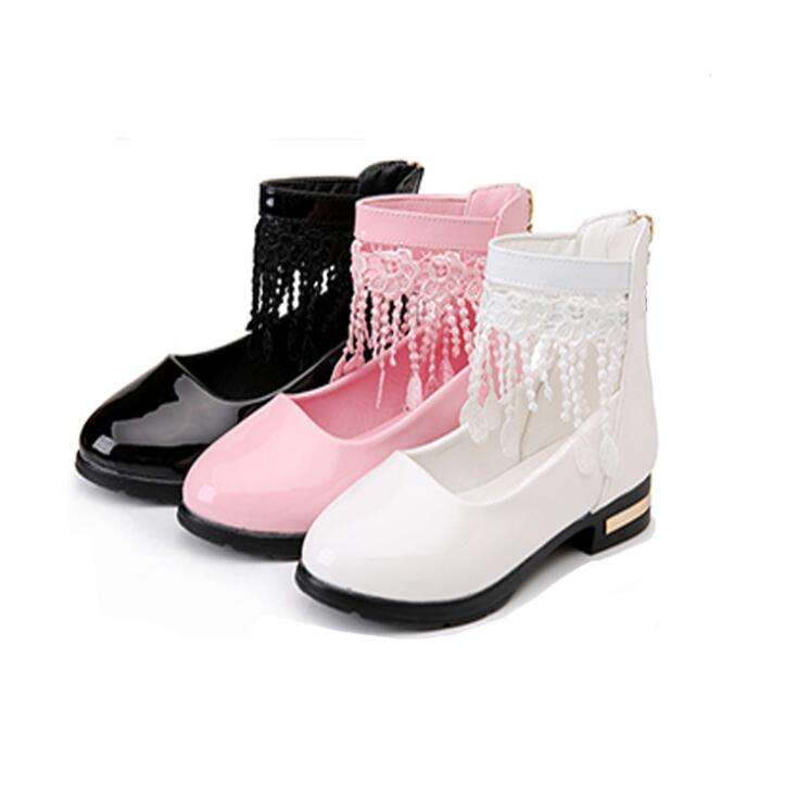 Foreign trade children's shoes manufacturers wholesale spring new tassel girls princess leather shoes children's casual wear