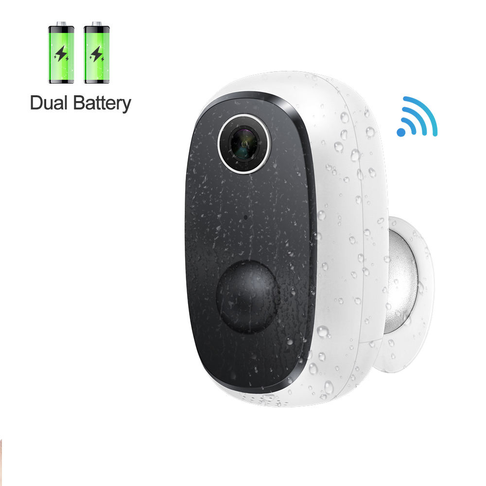 CloudEdge 1080P Battery Powered Wifi IP Camera Outdoor Rechargeable Wireless Two Way Audio PIR Detection Camera