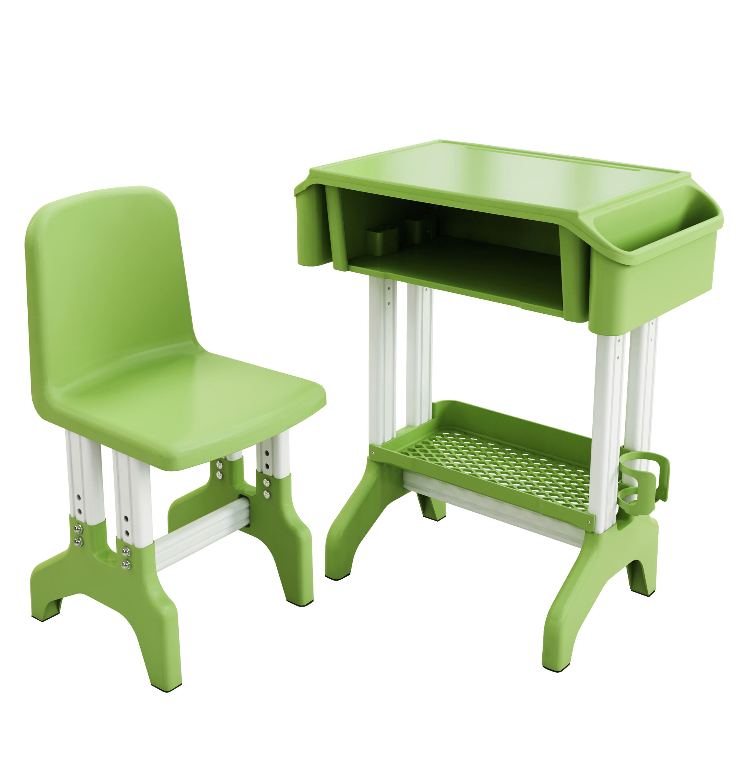 Cheap price environmental PP blue school furniture classroom study table and chair for student