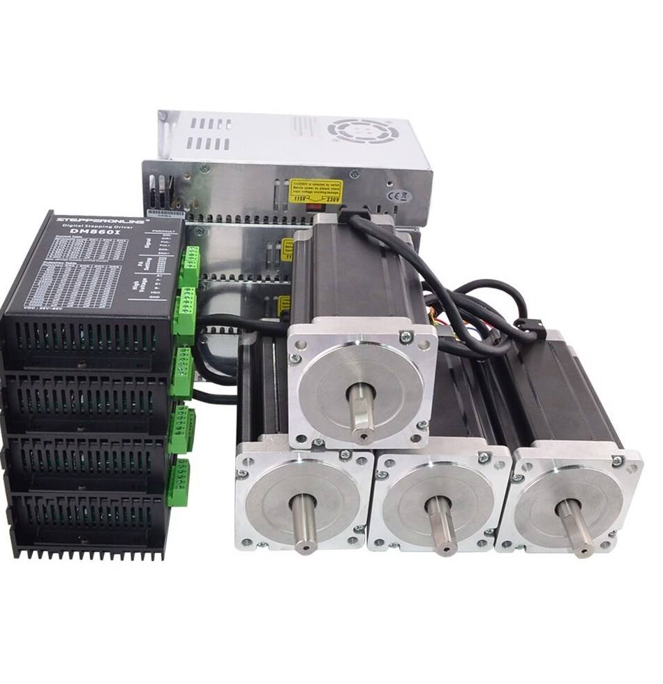 China hybrid Nema34 high torque 12v cnc kit 3 4 axis hybrid closed loop 12nm integrated servo nema 34 stepper motor