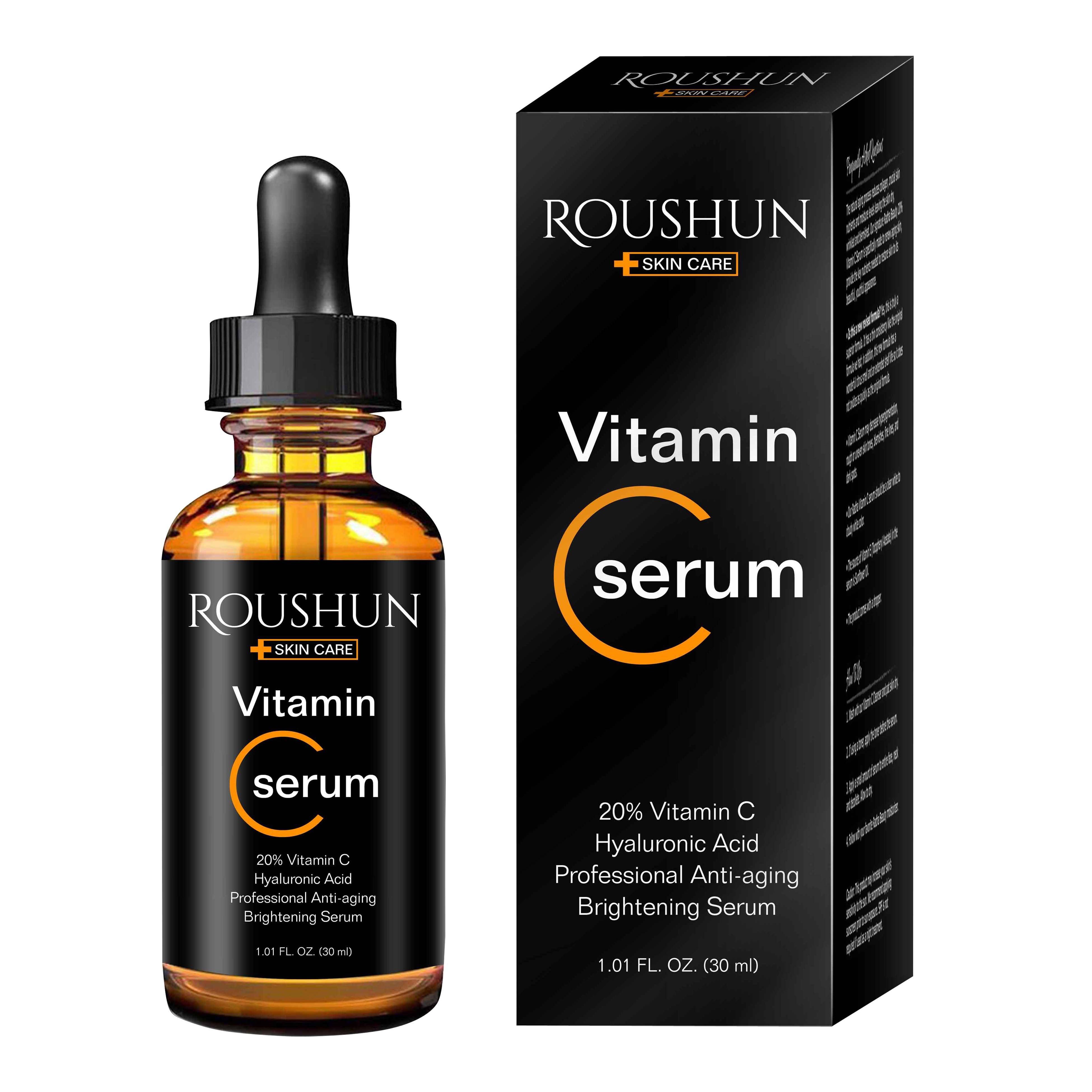 Roushun Best Verkopende Producten Private Label Anti Rimpel Voor Skin Whitening Zorg Oem Vc Serum