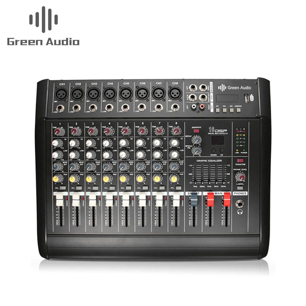 8 Channel Digital Audio Mixer Console Karaoke Suono Del Microfono di Miscelazione Amplificatore Built-in 48V Alimentazione Phantom con Interruttore Usb