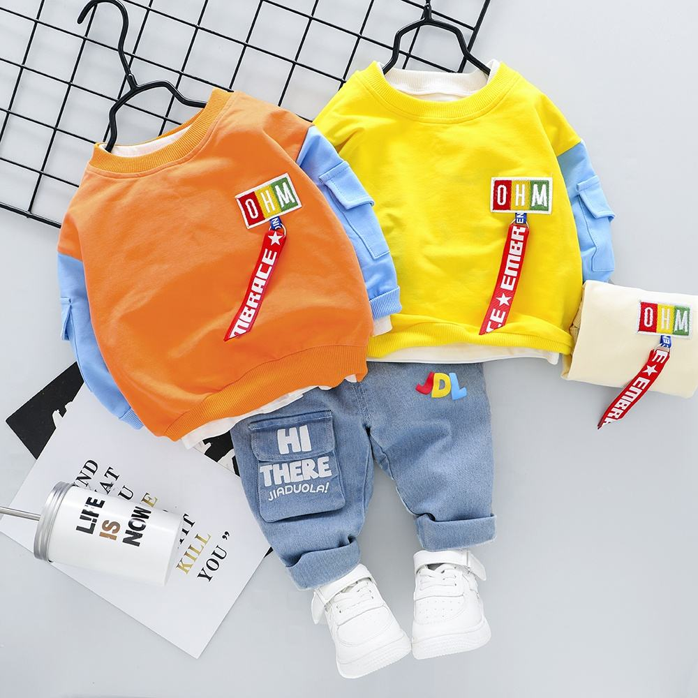 ropa de bebe boys clothing 1-4 years old Embroidery craft Bright clothes for boys Comfortable and handsome autumn