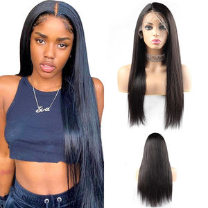 Vast 100% 10A Brazilian Raw Virgin Wigs Baby Hair Cuticle Aligned Virgin Human Hair front Wigs Long Straight Lace Frontal Wigs