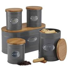 Airtight Storage Box and Canister Set With Bamboo Lid  Kitchen Storage Airtight Container