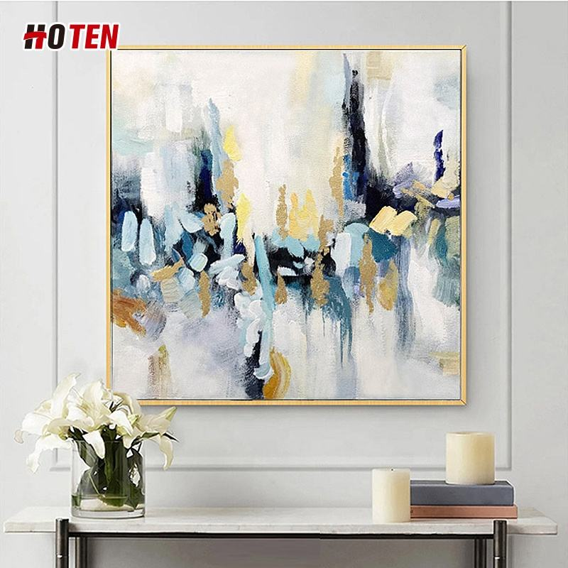 Pure hand-painted abstract oil painting simple living room sofa background hanging mural office decoration painting