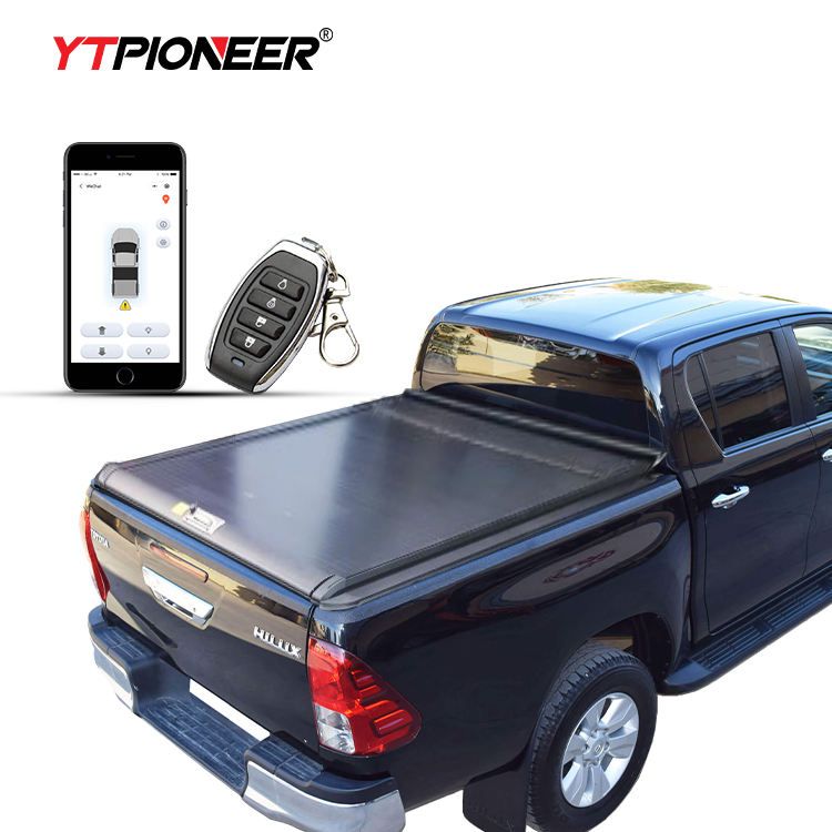 YTPIONEER Factory Outlet Aluminum Hard Retractable Pickup Bed Cover Electric Tonneau Cover For Toyota Hilux Revo 2005-2020