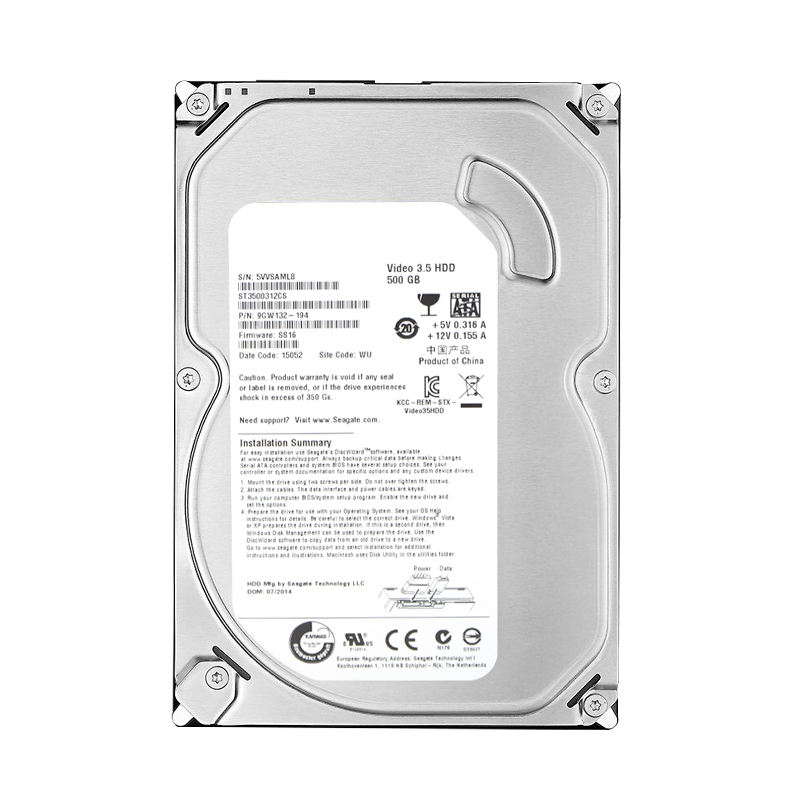Bulk stock internal 3.5 desktop hdd hard drive disk 500gb 7200RPM SATA hard drives