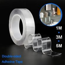 Traceless nano tape transparent water wash adhesive tape and double-sided adhesive tape for ten thousand times