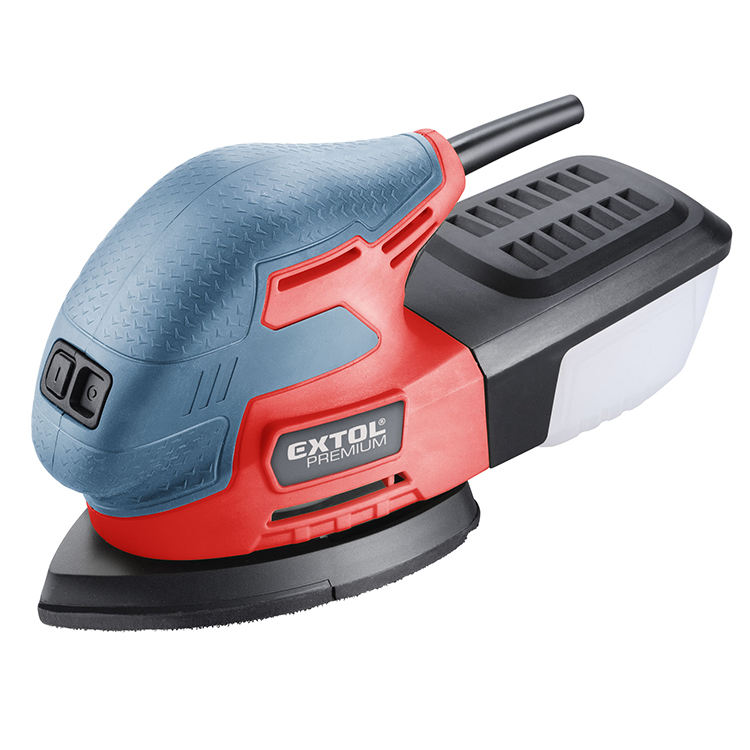 8894002 EXTOL Delta Palm Sander Speed Control Electric Professional Sander
