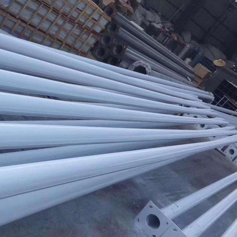 outdoor High quality Q235 galvanized carbon steel 6m street light pole