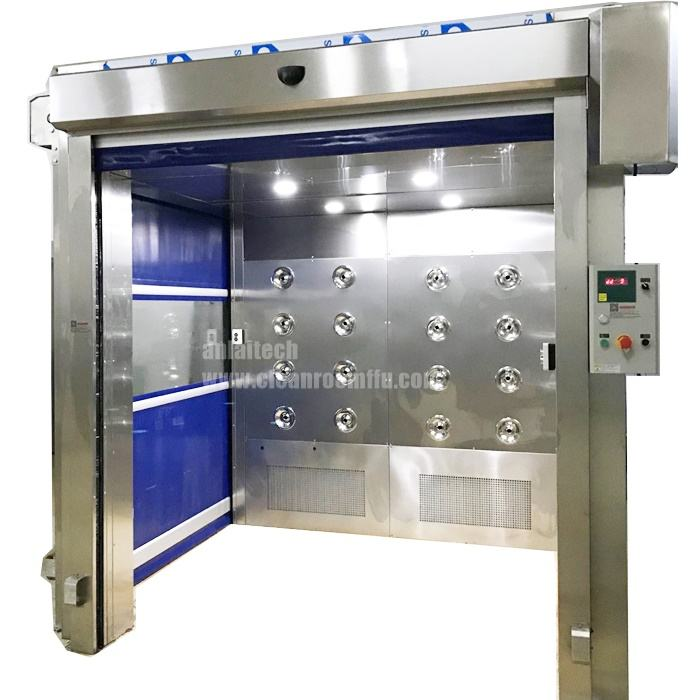 GMP Standard Stainless Steel Cargo Air Shower for food factory