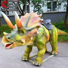 amusement park robot rides animatronic rocking dinosaur mechanical walking dinosaur