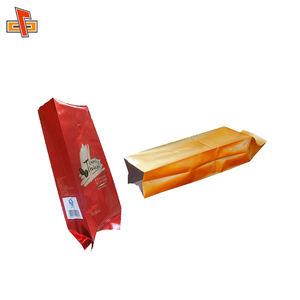wholesale high quality 500g side gusset aluminum foil coffee packaging bags with tin tie and one-way valve