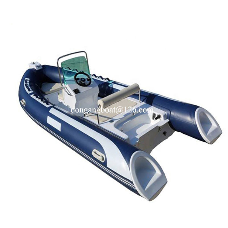 22feet 6.8m rib boat console hypalon or PVC inflatable boat for 5 people rigid boat