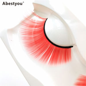 Abestyou NEUE 1 Paar 25-30MM wimpern Cosplay Gold Fisch Rot Farbe Faux Nerz Wimpern