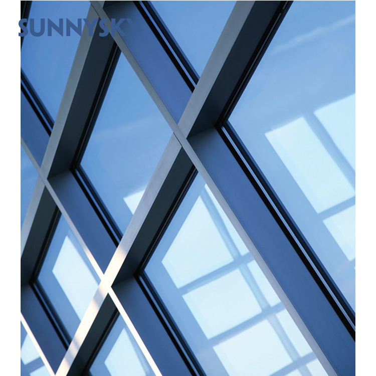 modern design mullion sizes aluminium stick installation curtain wall with the best define