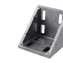 Gold supplier 8080 matte square reinforced aluminum right angle corner bracket (310.24A)