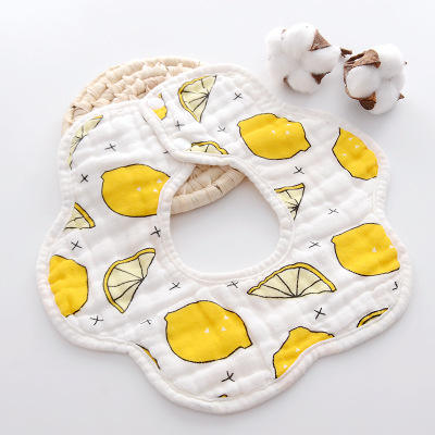 8 layers of pure cotton gauze 360 rotating petals bib bib baby cotton baby bibs