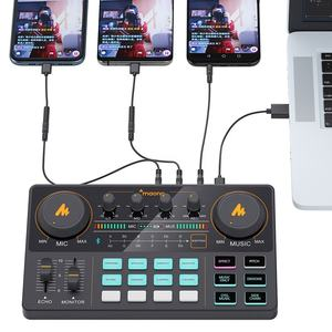 MAONOCASTER LIVE Audio Interface With Studio Microphone 12 Kinds of Sound Effects Digital Audio Mixer for live