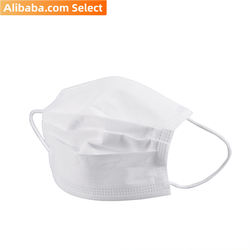 Alibaba Select 3 Ply disposable white earloop kid children face mask for US market GB/T 38880 (2000pcs/Carton)