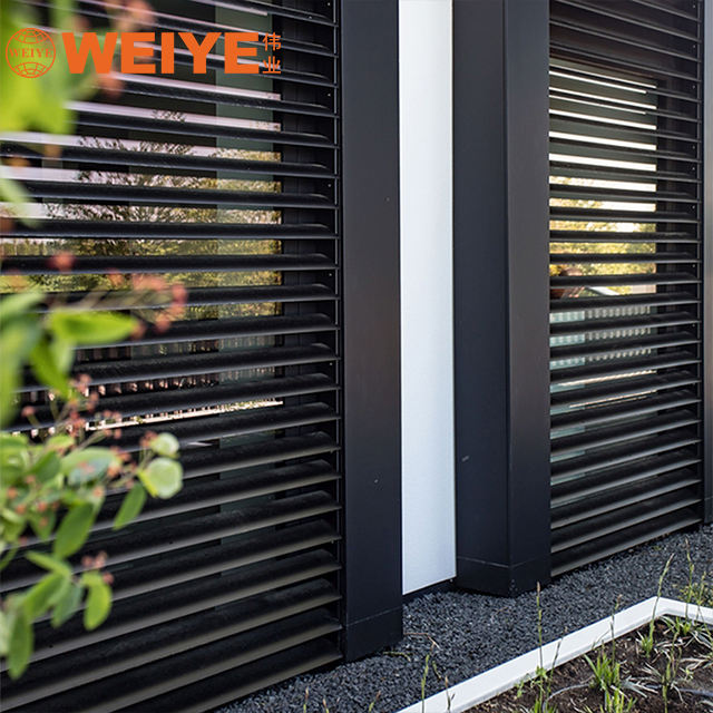Building exterior wall facde decoration outdoor shutters fixed aluminum louver