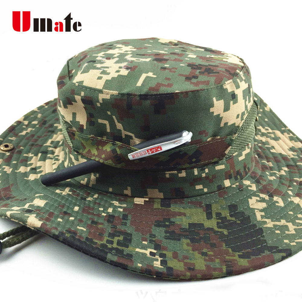 Outdoor Leisure Sports Cotton Bucket Camouflage Fishing Cap