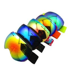 Custom brand Men Women Snow Goggles Double UV400 Goggles replaceable lens anti-fog magnetic Snow Goggles